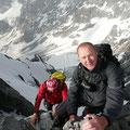 Schöne Kletterei am Hintergrat
