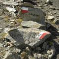 Wegweiser zwischen Trumserspitze und Grubenspitze