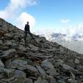 Abstieg vom Blaulackenkopf