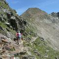 Weiterweg zum Gipfel