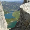 Blick von der Lachenspitze zu den 3 Seen