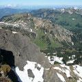 Blick auf den Hirschberg sowie zur Winterstaude
