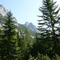 Blick auf Weißlehnkopf,Arnplattenspitze und Mittlerer Arnspitze