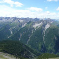Die Gipfel oberhalb des Gramaiser Tales.