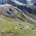 Übersicht über den Aufstiegsweg vom Kaisertal zum Stierlahnzug