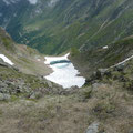 Eissee unterhalb des Gipfels