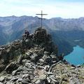 Am Gipfel des Wilden Hut