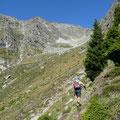 Aufstieg durch das Kar im Schindeltal