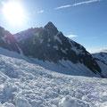 Die Kreilspitze im Gegenlicht