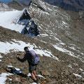 Abstieg von der Mittleren Pederspitze zum Grat