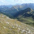 Aufstieg zur Hinteren Steinkarspitze