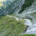 Aufstiegsweg im Oberen Bereich