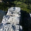 Felsriegel im Gipfelbereich der Läuferspitze