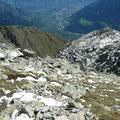 Rechts der Grat über die Bildhornspitze
