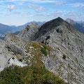 Reutener Höhenweg mit Steinkarspitzen