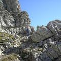 Abstieg von der Rhonenspitze