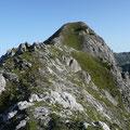 Übergang in den Gipfelgratbereich