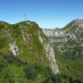 Steile Abbrüche am Rothorn