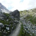Weiterweg zur Hintergrathütte