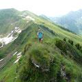 Unterwegs zur Üntschenspitze mit Blick ins Häfnerjoch und zur Güntlespitze