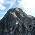 Rückblick zum schönen Gipfel