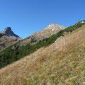 Rückblick zum Muttekopf beim Abstieg über die Südwestseite