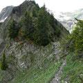 Interessanter Gratweg Richtung Hochstarzel
