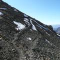 Querung zwischen Fallenbacher Joch und Gipfelaufbau