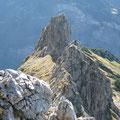 Markanter Gratkopf unterhalb des Roßgundkopfes