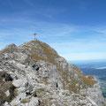 Gipfelbereich Thaneller mit Abstürzen auf der Nordostseite