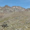 Aufstieg durch das Tisental mit Blick zur Fineilspitze