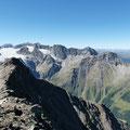 Blick auf Taitscheroi,Hochofenwand,Großer Angelus,Pederspitzen...