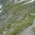 Steilstufe am Touristensteig von oben