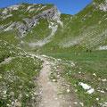 Am Fürggeleweg mit Blick zum Roß und Hochberg