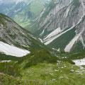 Abstiegsgelände Richtung Gramais