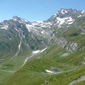 Kleine Übersicht des Höhenweges mit Blick zu Hohe Wilde und Hohe Weiße