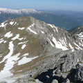 Gratweg zwischen Hammerspitze und Hochgehrenspitze