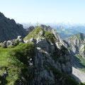 Das kleine Gipfelplateu des Wilden Gräshorn