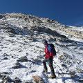 Letzter Abschnitt zum Gipfel über den Nordsattel