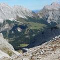 Blick ins Gaistal mit Wettersteingebirge