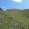 Gipfel in Sicht beim Aufstieg über den Westgrat