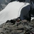 Rückblick auf den Schneegrat