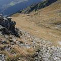 Die steilen Schrofen erfordern Gute Trittsicherheit.