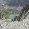 Blick von der Vorderen Scharte zum Steinsee
