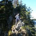 Abstieg über den Gratrücken