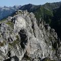 Nordostseite des Gipfels