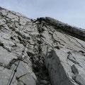 Kamin in der Plattenwand des Westgrates