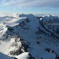 Blick von der Königsspitze zur Zufallspitze und Cevedale