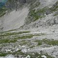 Abstieg vom Widdersteingrat Richtung Kar