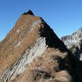 Beginn des Gipfelgrates